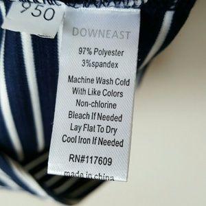 DownEast Skirts - DownEast Navy and White Stripe Skirt-Medium